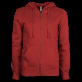 Rose-Hulman Inst of Technology ENZA Ladies Cardinal Fleece Full Zip Hoodie-Select-A-Logo