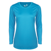 Ladies Syntrel Performance Light Blue Longsleeve Shirt-Select-A-Logo