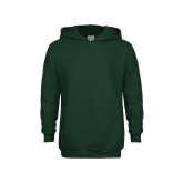 Youth Dark Green Fleece Hood-Select-A-Logo