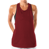 Ladies Under Armour Cardinal Pinhole Tank-Select-A-Logo