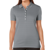 Ladies Callaway Opti Vent Steel Grey Polo-Select-A-Logo