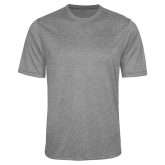 Performance Grey Heather Contender Tee-Select-A-Logo