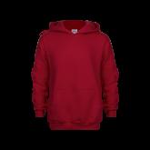Youth Cardinal Fleece Hoodie-Select-A-Logo