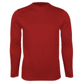 Performance Cardinal Longsleeve Shirt-Select a Left Chest Logo
