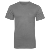 Grey 50/50 T Shirt w/Pocket-Select-A-Logo