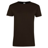 Ladies Brown T Shirt-Select-A-Logo