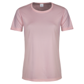 Ladies Performance Light Pink Tee-Select-A-Logo