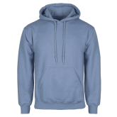 Light Blue Fleece Hoodie-Select-A-Logo