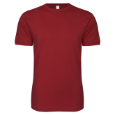 Next Level SoftStyle Cardinal T Shirt-Select-A-Logo