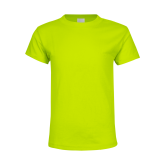 Youth Neon Green T Shirt-Select-A-Logo