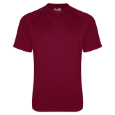Under Armour Maroon Tech Tee-Select A Logo Motto