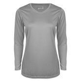 Ladies Syntrel Performance Platinum Longsleeve Shirt-Select-A-Logo