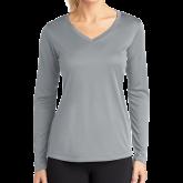 Ladies Syntrel Performance Platinum Longsleeve Shirt-Select-A-Logo
