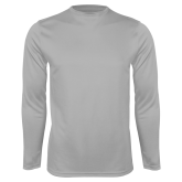Performance Platinum Longsleeve Shirt-Select-A-Logo