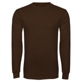 Brown Long Sleeve TShirt-Select-A-Logo