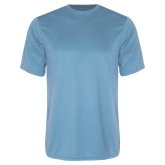 Syntrel Performance Light Blue Tee-Select-A-Logo