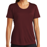 Ladies Syntrel Performance Maroon Tee-Select-A-Logo