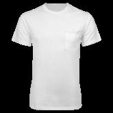 White T Shirt w/Pocket-Select-A-Logo