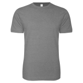 Next Level SoftStyle Heather Grey T Shirt-Select-A-Logo