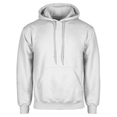 White Fleece Hood-Select-A-Logo