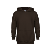 Youth Brown Fleece Hoodie-Select-A-Logo