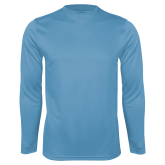Performance Light Blue Longsleeve Shirt-Select-A-Logo