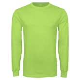 Lime Green Long Sleeve T Shirt-Select-A-Logo