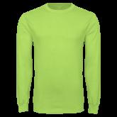 Lime Green Long Sleeve T Shirt-Select-A-Logo