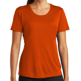 Ladies Syntrel Performance Orange Tee-Select-A-Logo