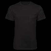 Black T Shirt w/Pocket-Select-A-Logo