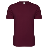 Next Level SoftStyle Maroon T Shirt-Select-A-Logo