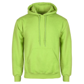 Lime Green Fleece Hoodie-Select-A-Logo