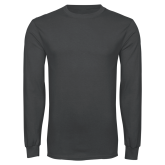 Charcoal Long Sleeve T Shirt-Select-A-Logo