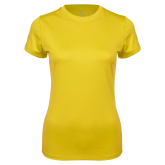 Ladies Syntrel Performance Gold Tee-Select-A-Logo