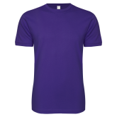 Next Level SoftStyle Purple T Shirt-Select-A-Logo