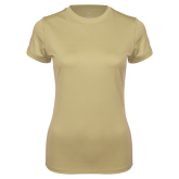 Ladies Syntrel Performance Vegas Gold Tee-Select-A-Logo