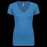 Maricopa Comm Next Level Ladies Vintage Turquoise Tri Blend V Neck Tee-Select-A-Logo