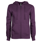 ENZA Ladies Purple Fleece Full Zip Hoodie-Select-A-Logo