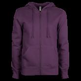 ACU Wildcat ENZA Ladies Purple Fleece Full Zip Hoodie-Select-A-Logo