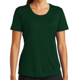 Ladies Performance Dark Green Tee-Select-A-Logo