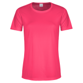 Ladies Performance Hot Pink Tee-Select-A-Logo