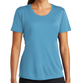 Ladies Syntrel Performance Light Blue Tee-Select-A-Logo