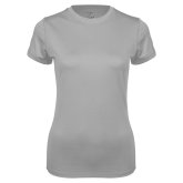 Ladies Syntrel Performance Platinum Tee-Select-A-Logo
