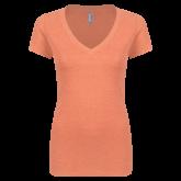 Next Level Ladies Vintage Light Orange Tri Blend V-Neck Tee-Select-A-Logo