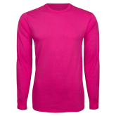 Maricopa Comm Hot Pink Long Sleeve T Shirt-Select-A-Logo