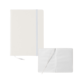 5x7 White Hard Cover Journal-Select-A-Logo
