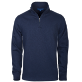 Navy Slub Fleece 1/4 Zip Pullover-Select-A-Logo