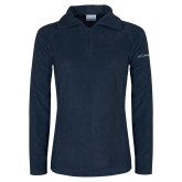 Columbia Ladies Half Zip Navy Fleece Jacket-Select-A-Logo