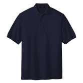 Navy Easycare Pique Polo-Select A Club Sport
