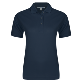 Ladies Easycare Navy Pique Polo-Select-A-Logo